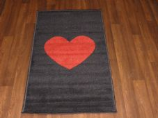 Modern Aprox 4x2 60cmx110cm Novelty Love Heart New Rug Woven Backed Nice Mats